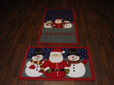 Aprox 4x2ft 60x110cm Novelty Nice Christmas Mat + Doormat 50x80cm sets of 2 XXX